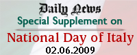 Daily News Special Supplement on National Day of Italy 02.06.2009
